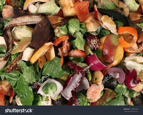 composting pile rotting kitchen fruits vegetable stock