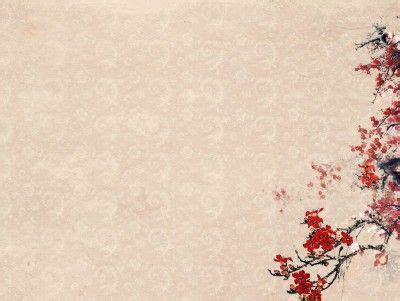 templates powerpoint japan plum blossoms flower templates nature powerpoint