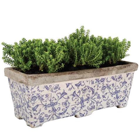 customer reviews for aged ceramic trough planter