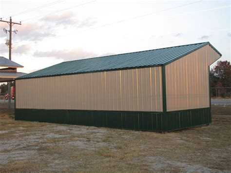 Metal Run In Shed by 16x36 Run In Shelter Loafing Shed With Steel Truss And