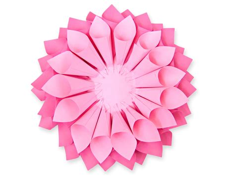 new year paper flower step by step easy paper dahlia tutorial