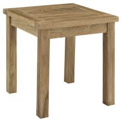 Outdoor Patio Side Table by Marina Outdoor Patio Teak Side Table Teak Patio Side Table
