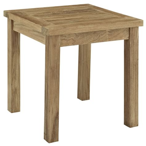 Outdoor Patio End Tables Marina Outdoor Patio Teak Side Table Teak Patio Side Table