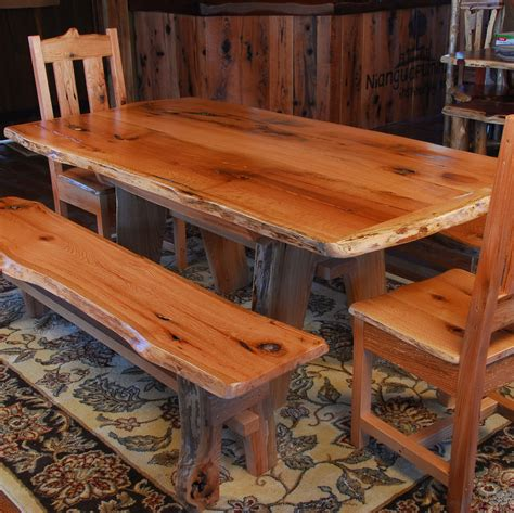 rustic oak dining bench rustic dining table set how to match dining chairs with a
