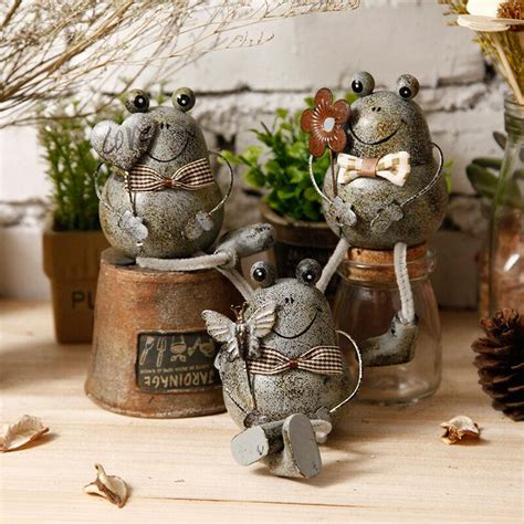 decorative figurines for home aliexpress com buy 1pc creative rural style tin frog