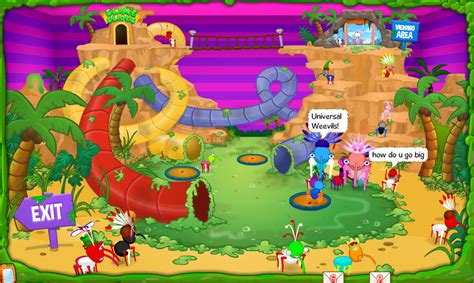 free online virtual world game the fun house now open universal weevils