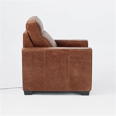 All Leather Recliner Chairs Henry 174 Leather Power Recliner Chair West Elm