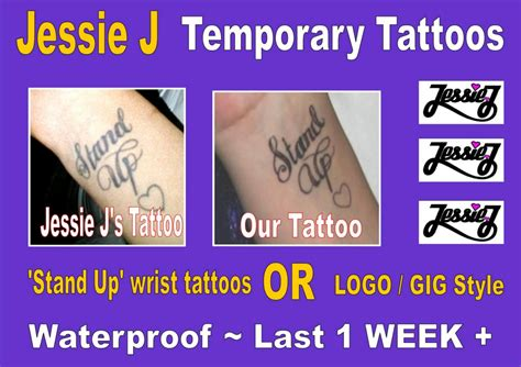 jessie j wrist tattoo j temporary tattoos wrist stand
