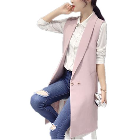 Coatjaket Azzura Pink Quality high quality s vest slim vests winter sleeveless coat jacket