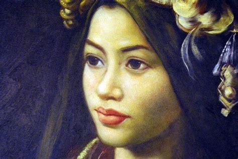 Peinture à l'huile de Chine femme minorité miao