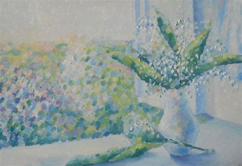 flowers  life lilies  vase contemporary landscape