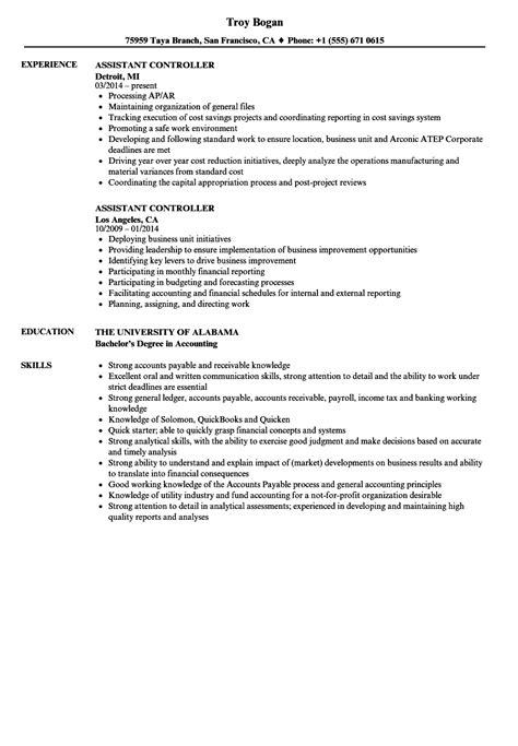 assistant controller resume resume ideas