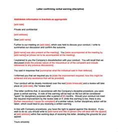 sle verbal warning template 6 documents in pdf