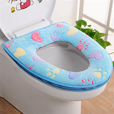 bathroom toilet seat covers chic mall toilet seat cover bathroom warmer plush soft
