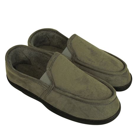 moccasin slippers mens mens classic slipper elastic gusset moccasin slippers
