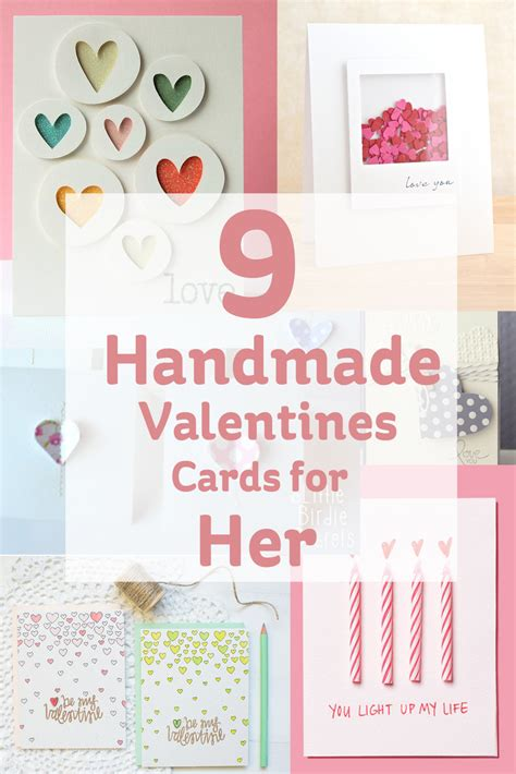 Handmade Valentines Cards For - 9 handmade valentines cards for hobbycraft