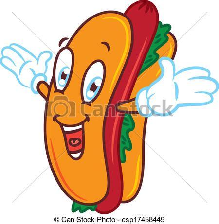 imagenes hot caricaturas eps vector de caricatura hot dog csp17458449 buscar