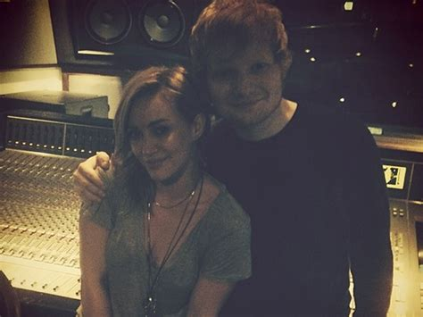 tattoo ed sheeran hilary duff here s visual proof that hilary duff and ed sheeran are