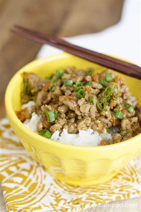 ground turkey and rice recipes easy teriyaki turkey rice bowl easy ground turkey recipe