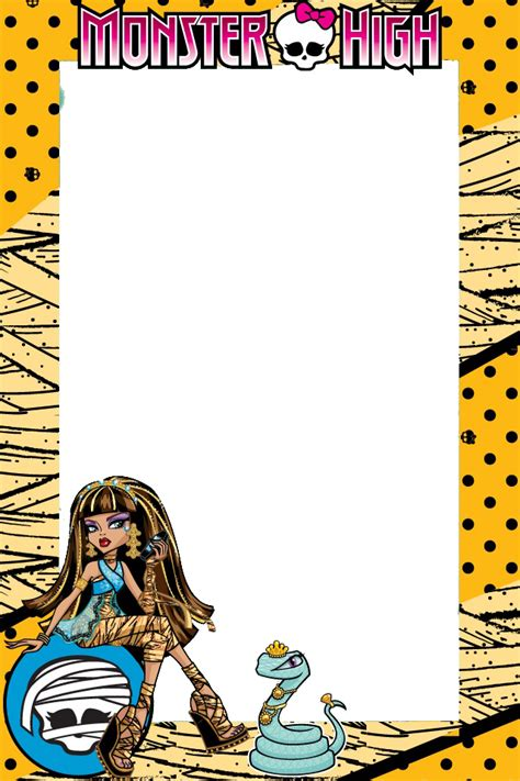 imagenes vectores monster high marcos monster high para imprimir