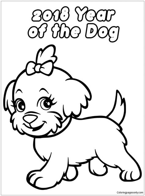 coloring page for year of the new year coloring page free coloring pages