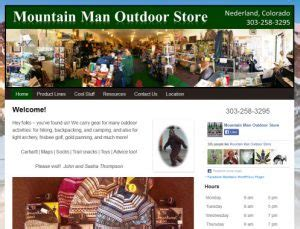 mountain man outdoor store website visits and analytics