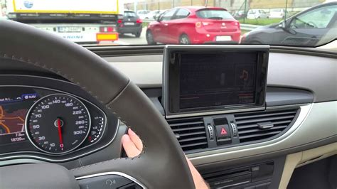 Audi A6 Display by Audi A6 C7 2015 Mmi Display Rollout Youtube