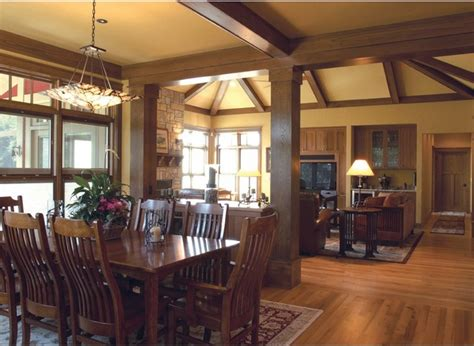craftsman dining room craftsman cottage on the pond traditional dining room milwaukee by thelen total construction