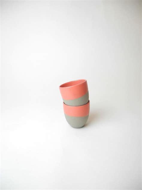 espresso kopje rood espresso kopjes grijs met koraal rood setje van 2