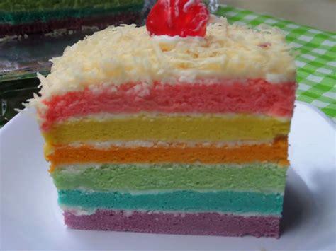 membuat kue cake resep membuat bolu kukus pelangi cake keju lembut enak