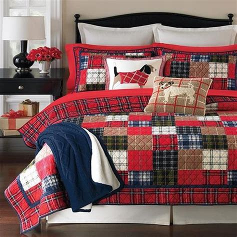 Plaid Patchwork Quilt - martha stewart plaid patchwork reversible quilt
