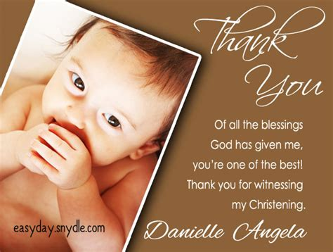 Baptism Thank You Card Wording Priest