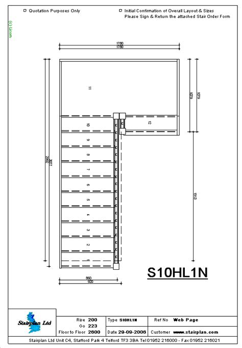 Standard Floor Plan Dimensions Staircases Made To Measure Staircase Drawing Of A Half