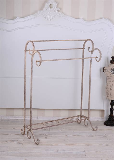towel rack towel holder shabby chic metal stand iron stand