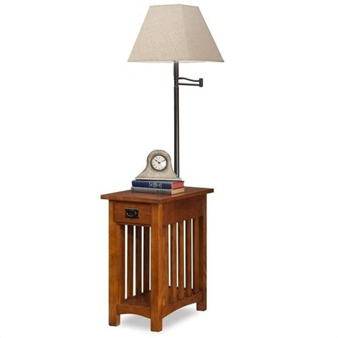wood chair side table leick mission chairside solid wood l table medium in