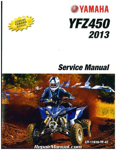 2004 2009 2012 2013 Yamaha Yfz450 Atv Service Manual