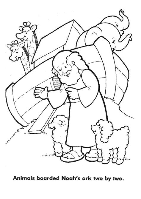 children s coloring pages noah s ark noah and his family colouring pages page 2