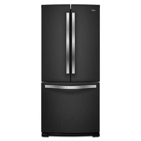 whirlpool black ice whirlpool 30 in w 19 7 cu ft french door refrigerator