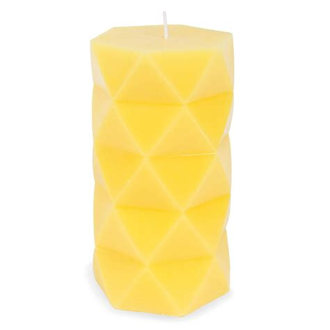 Origami Candle - origami candle yellow h 15 cm maisons du monde
