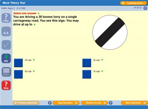pattern of driving theory test hgv theory test training practice exams help and advice