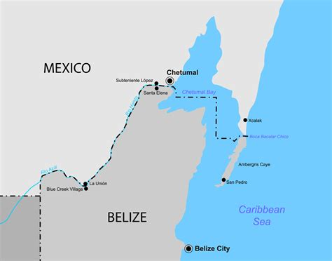 map of mexico and belize belize mexico map mexico map