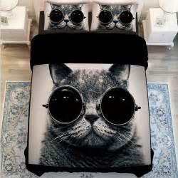white duvet cover sets king size aliexpress buy black and white cat print bedding