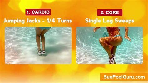 glam legs sleek abs aqua aerobic exercise http www suepoolguru