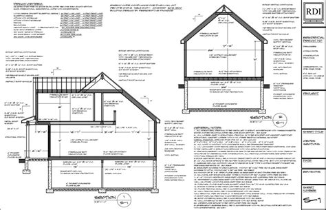 how to do a cross section cross sections drawings residential design inc