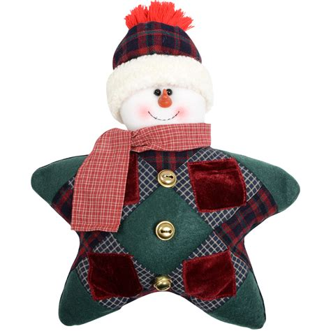 Patchwork Santa - 12 quot shaped snowman santa tartan fabric patchwork