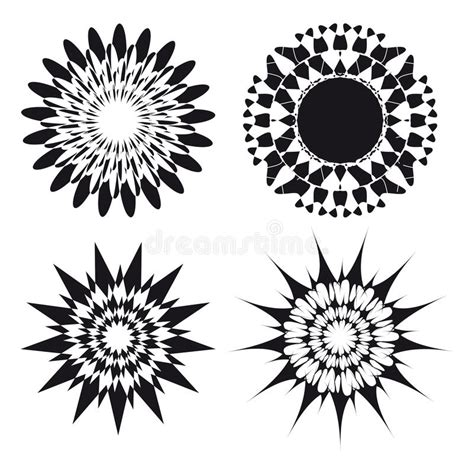 spirograph tattoo spirograph ornament design elements stock
