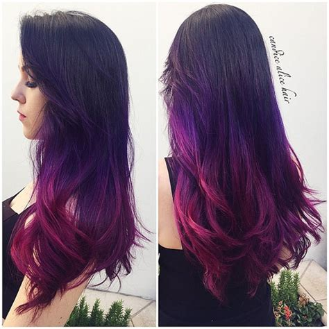purple black hair color how to dip dye your hair at home with three different