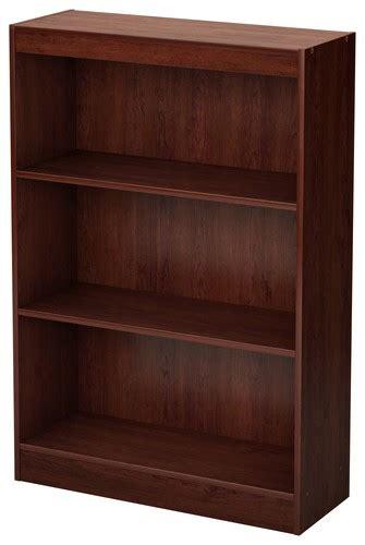 south shore 3 shelf bookcase brown 7246766c best buy