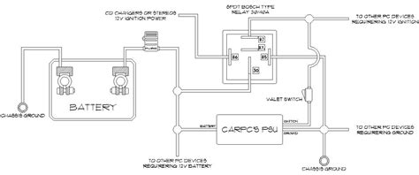 sketch up a diagram for those of you guys wanting to tap into your stereo or cd changers 12v