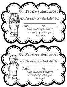 reminder templates for teachers 7 best images of free printable parent conference